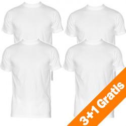 HOM Harro New Shirt Wit Ronde Hals 3+1 gratis actie