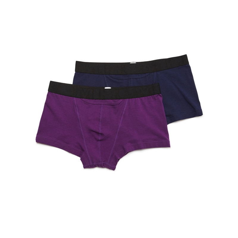 HOM H01 Boxer Letter Purple Blue 2Pack Boxerlines