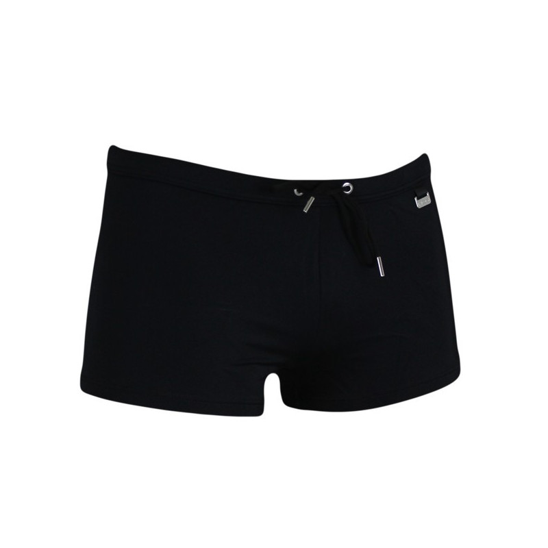 HOM Zwembroek Boxer Beach Fun Marine Chic Black