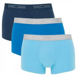 HOM Boxer Brief 3Pack Boxerlines Blauw Navy Turquoise